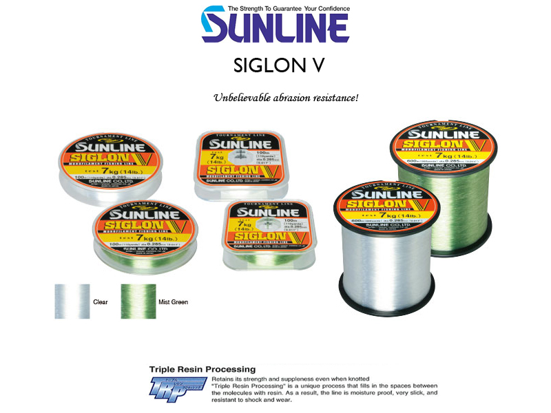 Sunline Siglon V (Length: 100mt, Diameter: 0.370mm, Strength: 10.0kg)