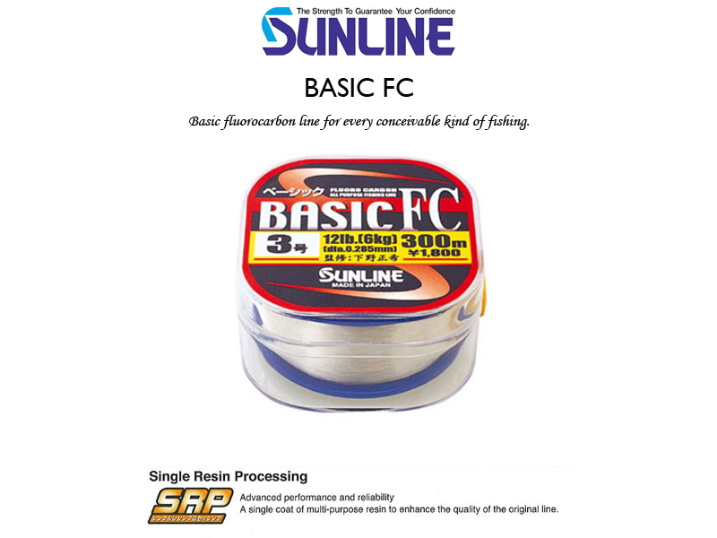 Sunline Basic FC (Length: 300mt, PE:#1.5, Strength: 6LB)