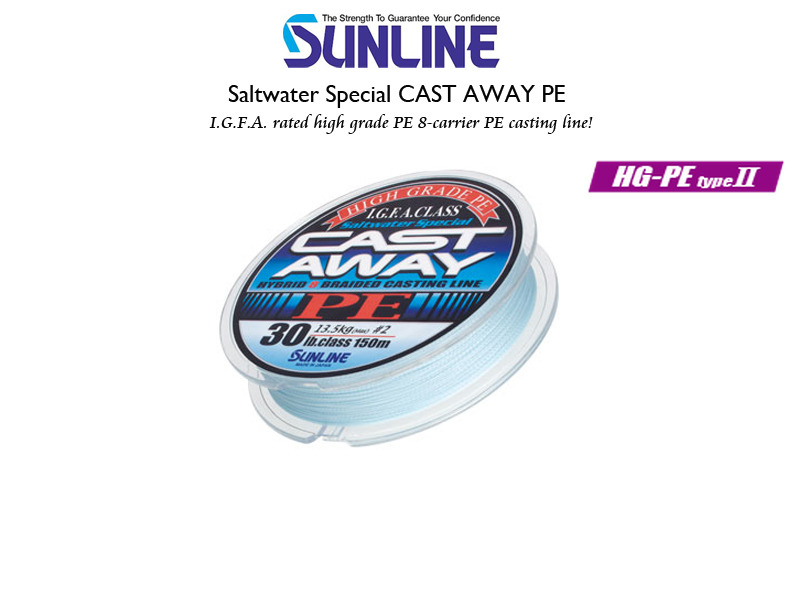 Sunline Saltwater Special Cast Away PE (Length: 200mt, Color: Pearl Blue, PE:#3.0, Strength: 50LB)