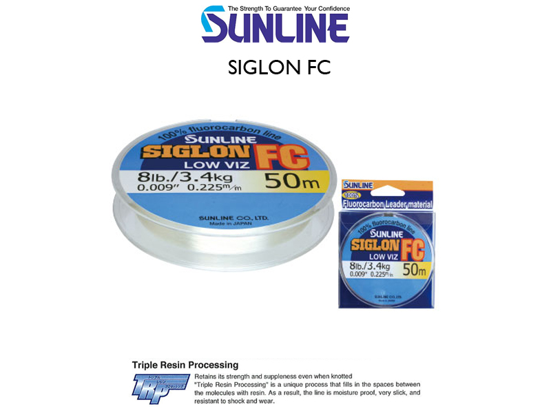Sunline Siglon FC (Length: 50mt, PE: #0.8, Strength: 4LB)
