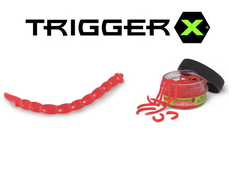 Trigger X Creature Baits Blood Worm Medium (28mm, 40 pcs)