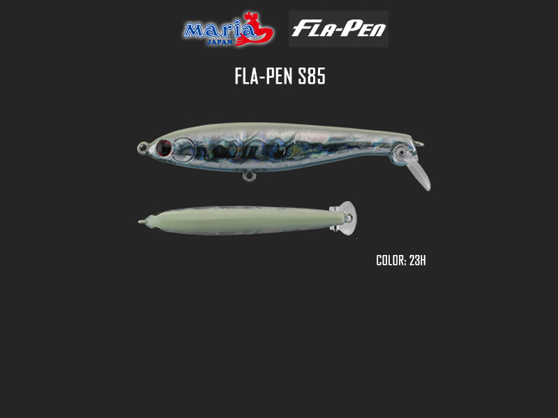 Maria Fla-Pen S85 (Length: 85mm, Weight: 15gr, Type: Sinking, Color: 23H)