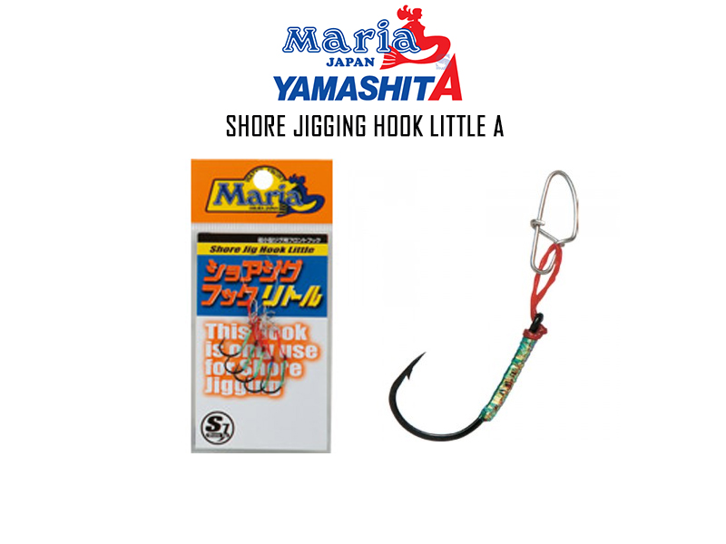 Maria Shore Jig Hooks Little (Size: 3, Line Length: 0.5cm, Pack: 5pcs)