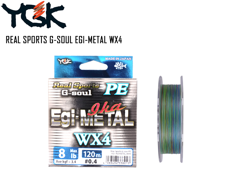 YGK D701 Real Sports G-Soul Egi - Metal WX4 ( Length: 150mt, P.E: 0.6, Strength: 12lb)