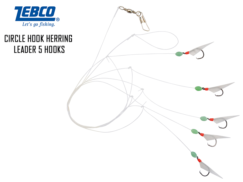 Zebco Circle Hook Herring Leader 5 hooks