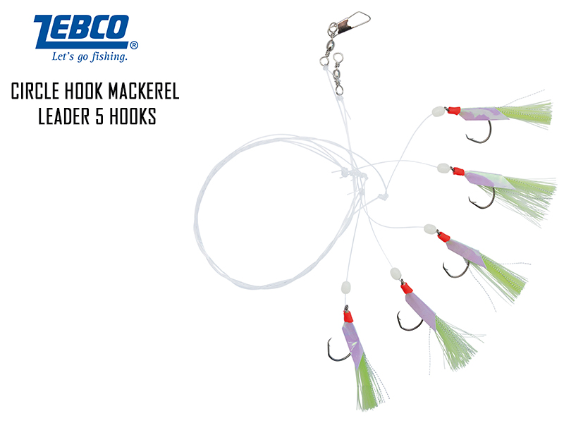 Zebco Circle Hook Mackerel Leader 5 hooks