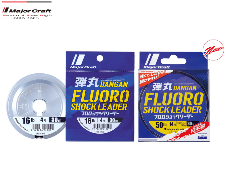 Major Craft Dangan Fluoro Shock Leader 30mt (P.E: 2.5, Diameter: 0.26mm, B.S: 10LB)