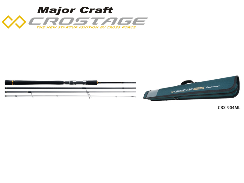 Major Craft New Crostage CRX-964M 4pcs Light Game Series Seabass (Length: 2.93mt, Lure: 15-42gr)