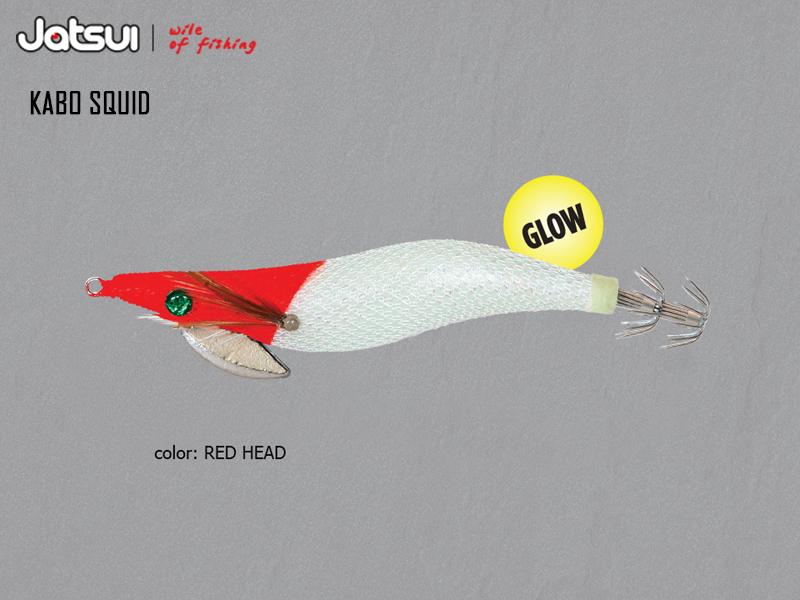 Jatsui Kabo Squid Head Magic (Size: 3.0, Weight: 14gr, Color: Red Head)