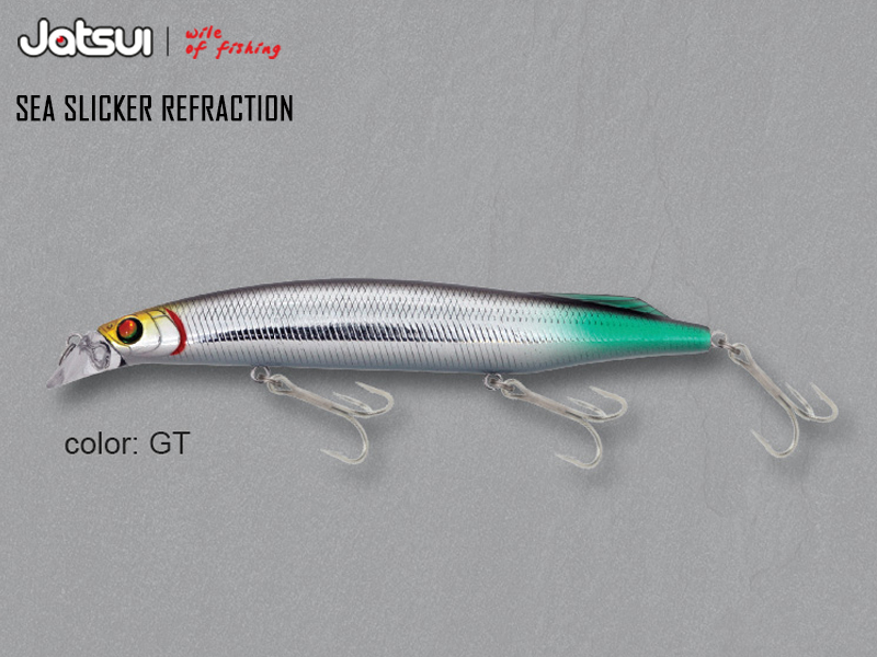 Jatsui Sea Slicker Refraction (Length: 125mm, Weight: 21gr, Color: GT)
