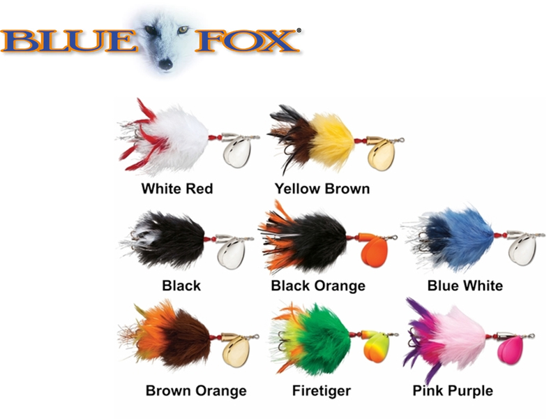 "Blue Fox Vibrax Super Bou ( Length: 8"", Weight: 35gr, Color: Black Orange)"