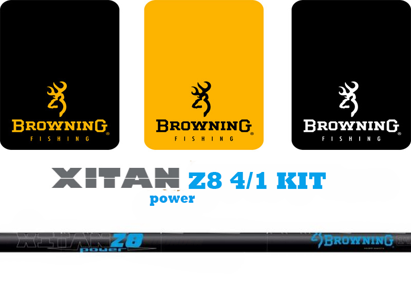 Browning Xitan Power Z8 4/1 Kit 3.9mm (Length: 5.95mt, Sections: 4, Weight: 166gr)