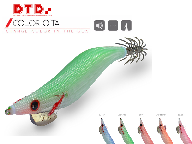 DTD Squid Jig Color Oita (Size: 3.5, Color: Orange)