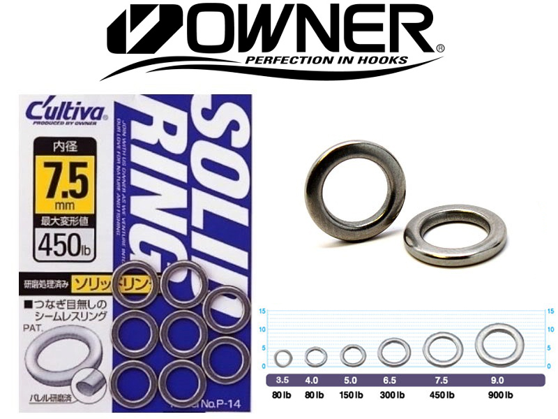 Owner 5195 Solid Ring (#4.0, 80lb, 9pcs)