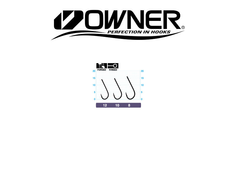 Owner Hook 50457 TENKARA-S with ring (#8, 10pcs)