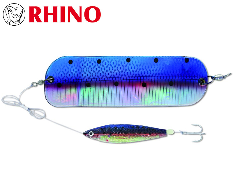 Rhino Flasher With SoftFish Lure (Length: 70cm, Hook: 1/0, Ø: 0.60mm, Model: Gold Swedish Flag)