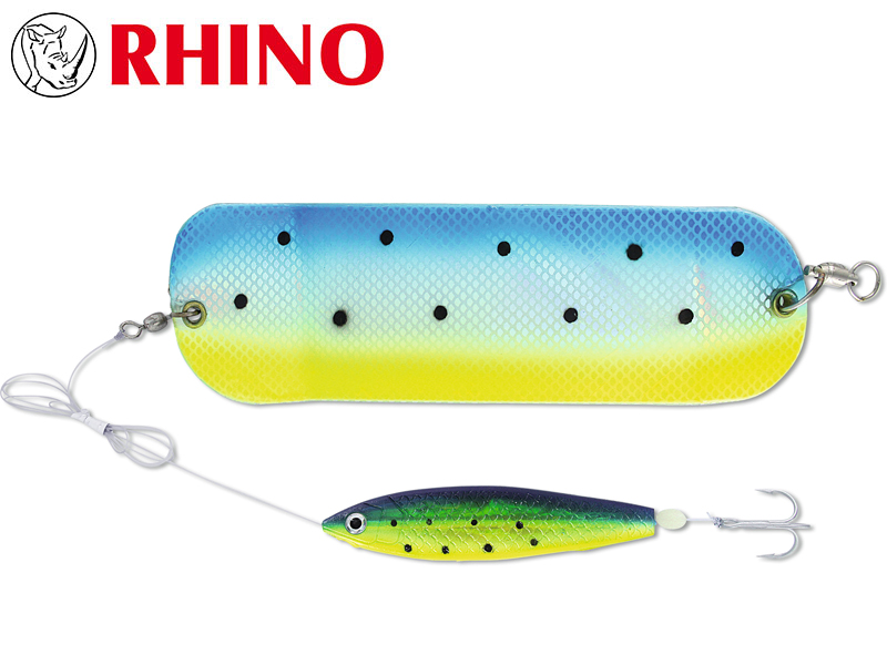 Rhino Flasher With SoftFish Lure (Length: 70cm, Hook: 1/0, Ø: 0.60mm, Model: King Salmon)