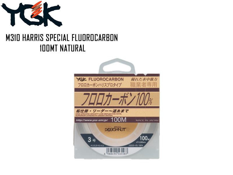 YGK M310 Harris Special Fluorocarbon Natural 100mt ( Size: 2.0G, Strength: 8lb, Diameter: 0.235mm)